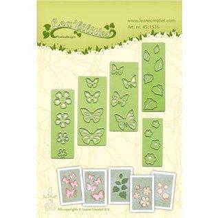 Leane Creatief - Lea'bilities Estampage et Pochoir gaufrage, fleurs et papillons
