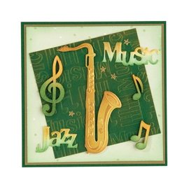 Leane Creatief - Lea'bilities Stampen en Embossing stencil, saxofoon