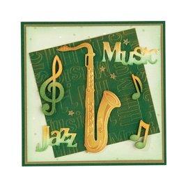 Leane Creatief - Lea'bilities Stempling og prægning stencil, saxofon