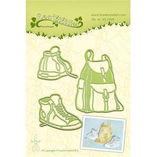 Leane Creatief - Lea'bilities Stempling og prægning stencil, rygsæk og vandrestøvler