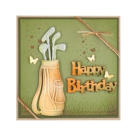 Leane Creatief - Lea'bilities Stamping and Embossing stencil, Golf