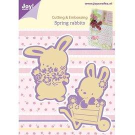 Joy!Crafts / Jeanine´s Art, Hobby Solutions Dies /  Corte e de estampagem estênceis, 2 Primavera Coelho