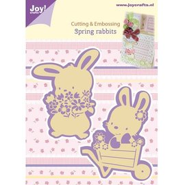 Joy!Crafts / Jeanine´s Art, Hobby Solutions Dies /  Taglio e goffratura stencil, 2 Spring Bunny