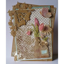 Joy!Crafts / Jeanine´s Art, Hobby Solutions Dies /  Coupe et de gaufrage pochoirs, frontière avec la coccinelle