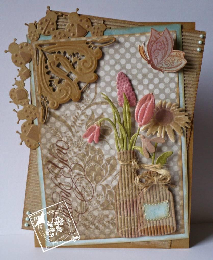 Corte y estampado en relieve plantillas, frontera con mariquita ...