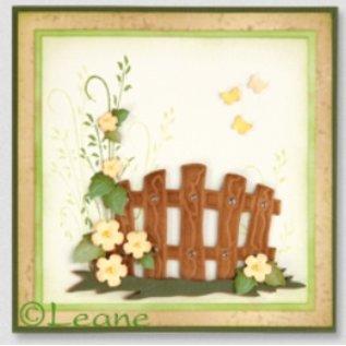 Leane Creatief - Lea'bilities Estampillage et Pochoir gaufrage, Garden Gate