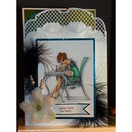 Crafter's Companion A6 Frou Frou Set carimbo de borracha desmontado - Cartas de amor