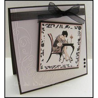 Crafter's Companion A6 Frou Frou Unmounted Gummi Stempel Set - Love Letters