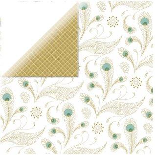Designer Papier Scrapbooking: 30,5 x 30,5 cm Papier 1 bue designer papir, Elegance - Pure