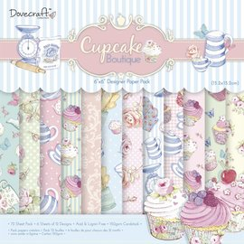 DESIGNER BLÖCKE / DESIGNER PAPER Offre: Designersblock, Cupcake Boutique, 72 feuilles - dernière copie!