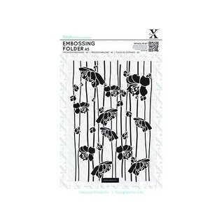 Docrafts / X-Cut A5 Embossing Folder - Blossom Stripes