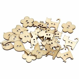 Embellishments / Verzierungen 15 boutons décoratifs, taille 22x21 mm, épaisseur 2 mm