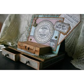 Spellbinders und Rayher Estêncil de corte e gravar, sacos e etiquetas