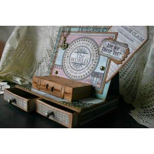 Spellbinders und Rayher Stempling og prægning stencil, tasker og etiketter