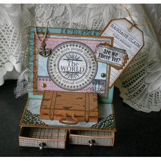 Spellbinders und Rayher Stamping and Embossing stencil, bags and labels