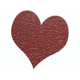 FARBE / STEMPELINK Embossing Powder 10g glitter robijnrood