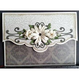 CREATIVE EXPRESSIONS und COUTURE CREATIONS Estampage et Pochoir gaufrage, fleurs