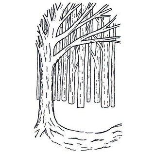 CREATIVE EXPRESSIONS und COUTURE CREATIONS Gummistempler, baggrund Tree