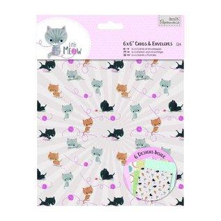 Docrafts / Papermania / Urban , Card Set 12 Designer Cartes et enveloppes Petit Meow