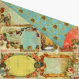 Designer Papier Scrapbooking: 30,5 x 30,5 cm Papier Plakboek papier, 30,5 x 30,5 cm, Prima Marketing