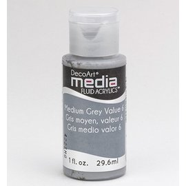 DecoArt media fluid acrylics, Medium Grey