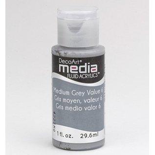 DecoArt acrílicos fluido mídia, cinzento médio