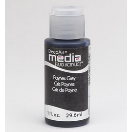 DecoArt media fluid acrylics, Payne's Grey