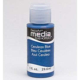 DecoArt media fluid acrylics, Cerulean Blue