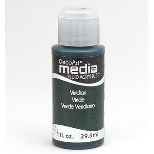 DecoArt media Fluid acrylics, Viridian Green Hue
