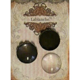 Embellishments / Verzierungen 2 cabochons de verre avec cadre