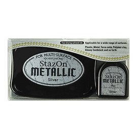 FARBE / STEMPELKISSEN StaZon stempel inkt, metallic zilver