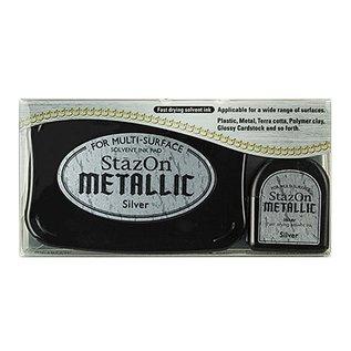 FARBE / STEMPELINK StaZon stempel inkt, metallic zilver