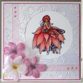 Crafter's Companion Stamp Set A6 Frou Frou Unmounted caoutchouc Designer - paillettes et du glamour