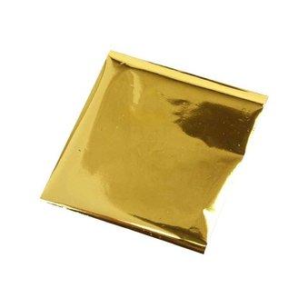 BASTELZUBEHÖR, WERKZEUG UND AUFBEWAHRUNG Transfer foil, sheet 10x10 cm, 30 sheets, gold