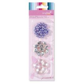 Schmuck Gestalten / Jewellery art Mix perler, lilla-pink
