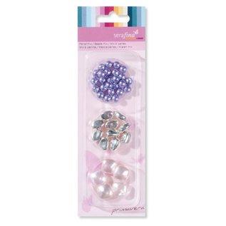 Schmuck Gestalten / Jewellery art Perlen Mix, lila-rosa