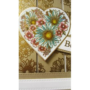 CREATIVE EXPRESSIONS und COUTURE CREATIONS Gummistempel, Heart of Blossoms