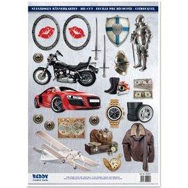 Embellishments / Verzierungen Hojas sueltas A4, Tema: Hombres diseños