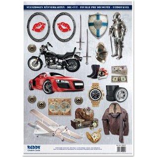 Embellishments / Verzierungen A4 afskårne ark, Emne: Mænd designs