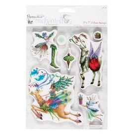 Docrafts / Papermania / Urban Les timbres en caoutchouc, des thèmes de Noël avec le renne nostalgique