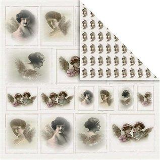 Designer Papier Scrapbooking: 30,5 x 30,5 cm Papier Papier Designer nostalgique, 30,5 x 30,5 cm