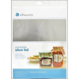 Silhouette Filme adesivo Printable - Silver