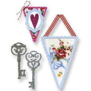Sizzix Stanzschablone, Banner und Schlüssel