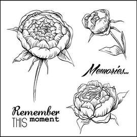 """Stempel / Stamp: Transparent Gennemsigtige frimærker sæt, """"roser"""""""