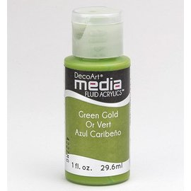 DecoArt media fluid acrylics, Green Gold