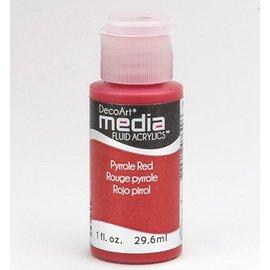 DecoArt acrilici fluido dei media, pirroli Rosso