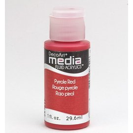 DecoArt media fluid acrylics, pyrroles Red