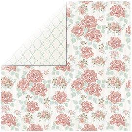 Designer Papier Scrapbooking: 30,5 x 30,5 cm Papier 1 feuille Rosen Designer Paper Bouquet