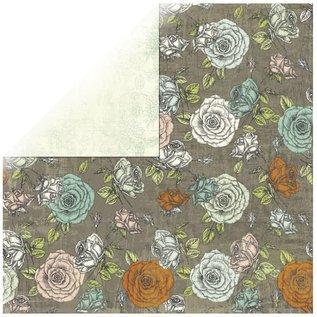 Designer Papier Scrapbooking: 30,5 x 30,5 cm Papier 1 feuille Rosen designer papier