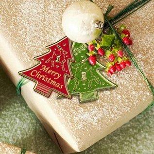 Sticker Klistermærker, etiketter som juletræer